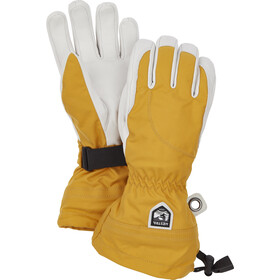 Hestra Heli Ski Guantes 5 dedos Mujer, mustard/offwhite